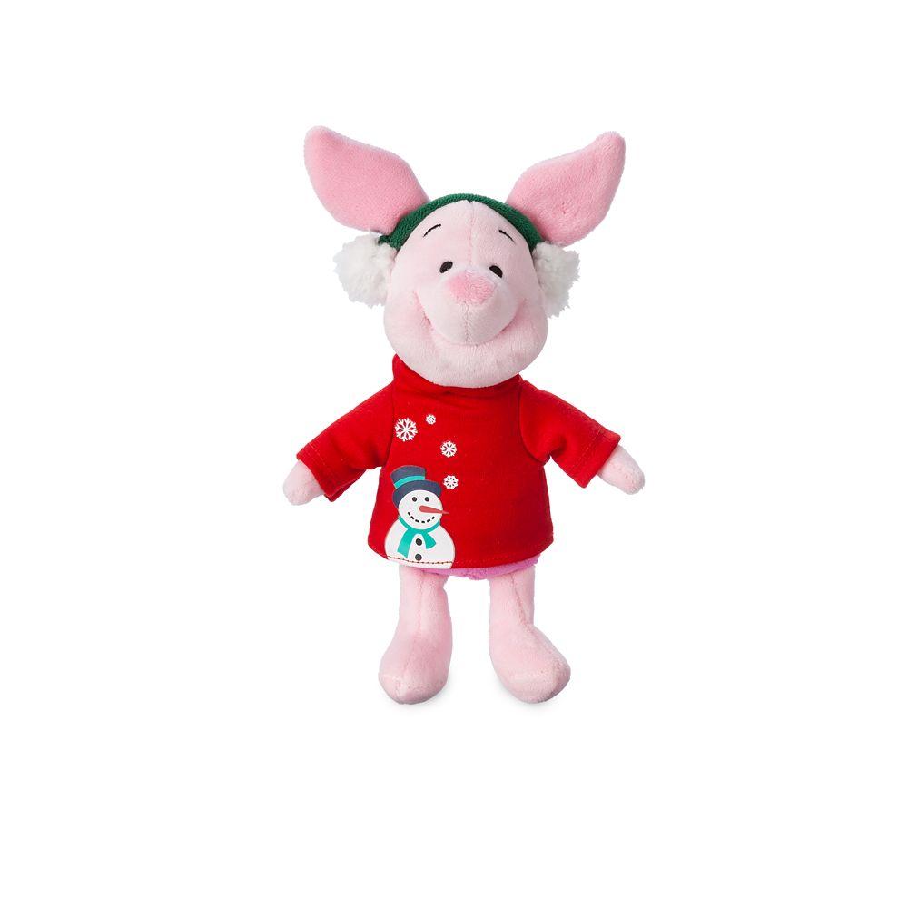 Piglet Holiday Plush  Mini Bean Bag  8'' Official shopDisney