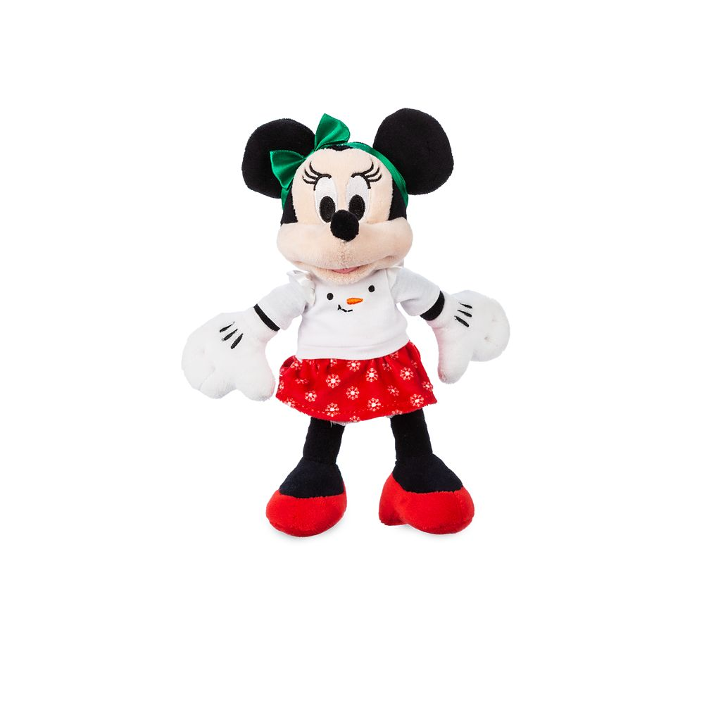 Minnie Mouse Holiday Plush – Mini Bean Bag – 9''