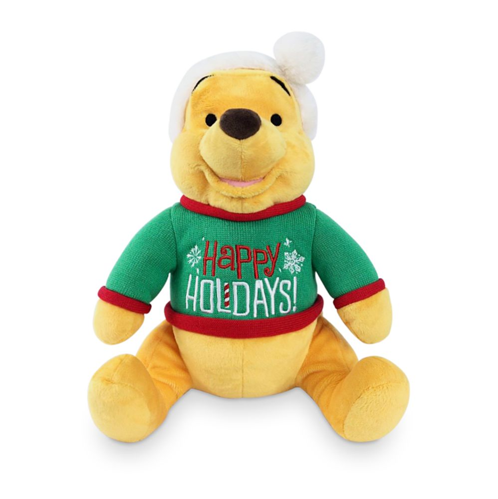 Winnie the Pooh Holiday Plush – Medium 14 1/2''