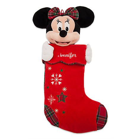 Minnie Mouse Plush Holiday Stocking - Personalizable