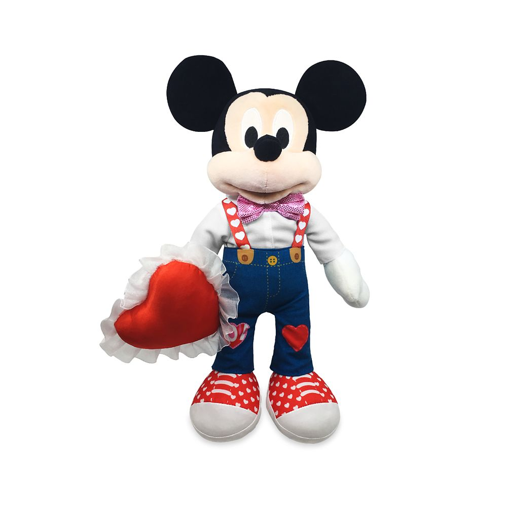 Mickey Mouse Plush – Valentine's Day – Medium 16''
