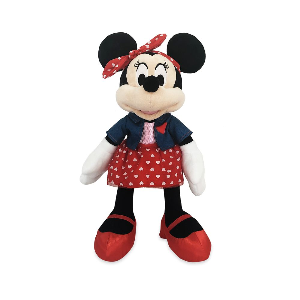 Minnie Mouse Plush – Valentine's Day – Medium 16''