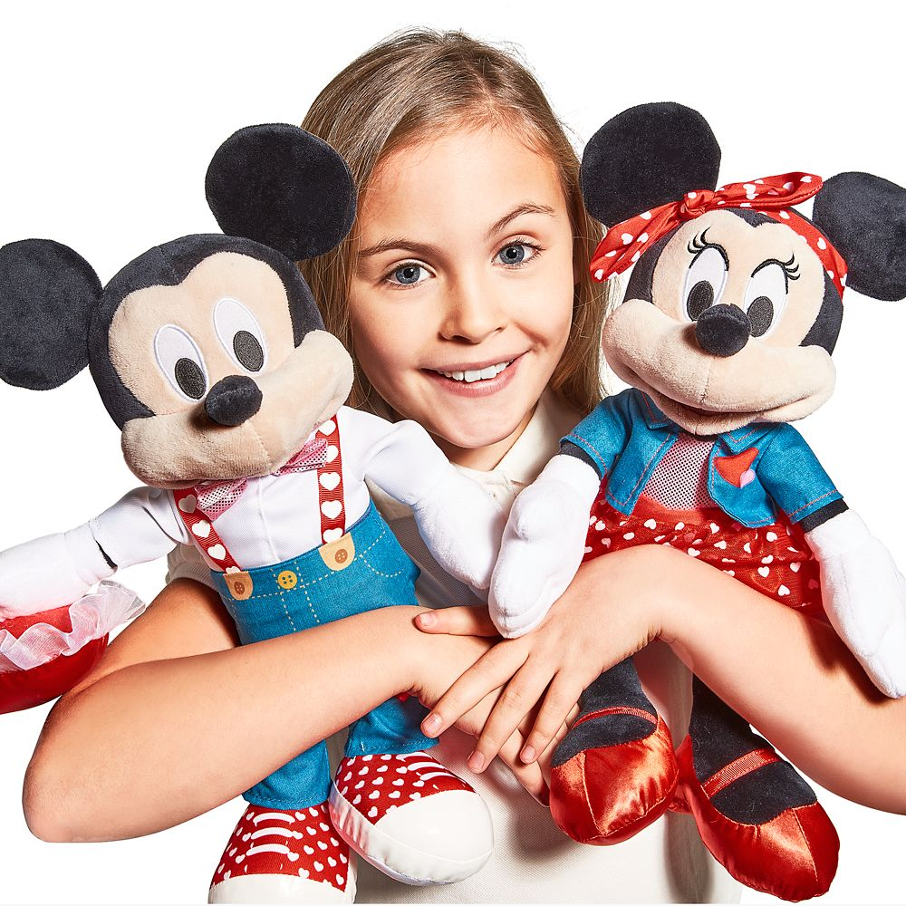 Minnie Mouse Plush – Valentine's Day – Medium 16''