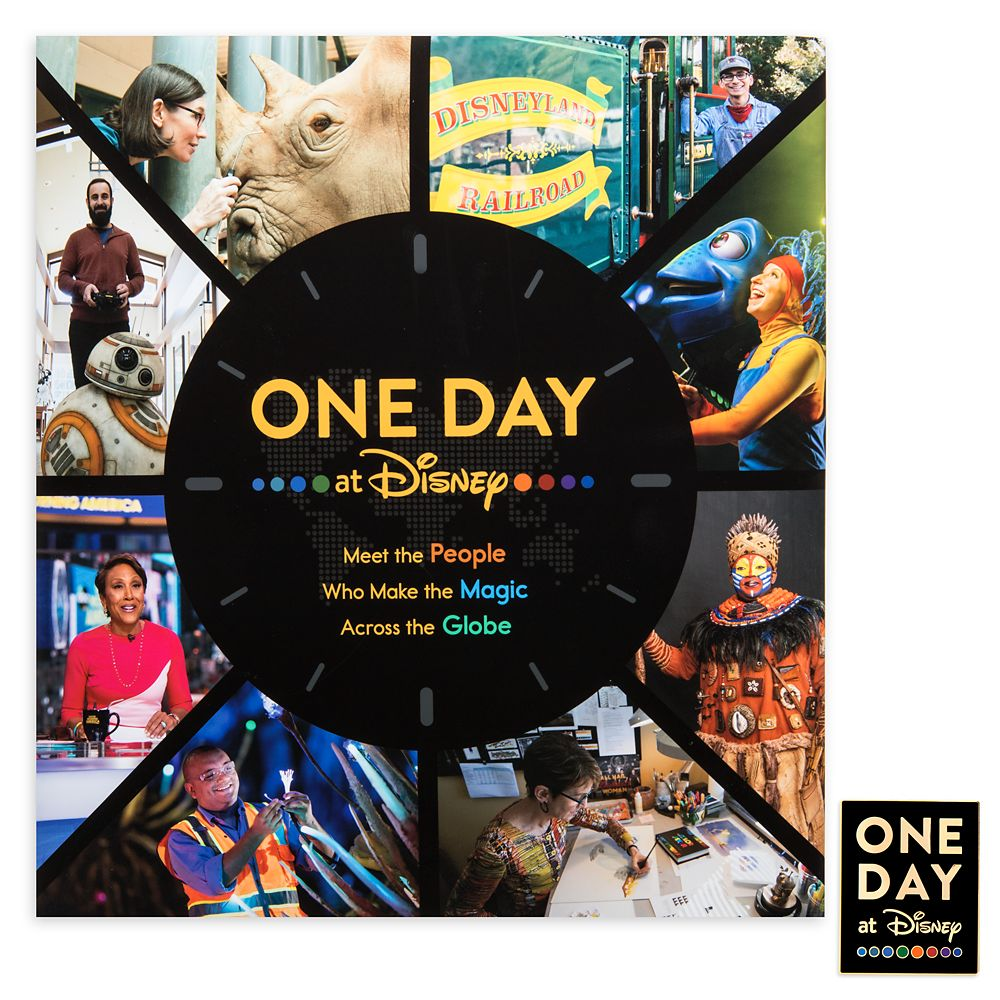 One Day at Disney Book with Pin – D23 – Pre-Order