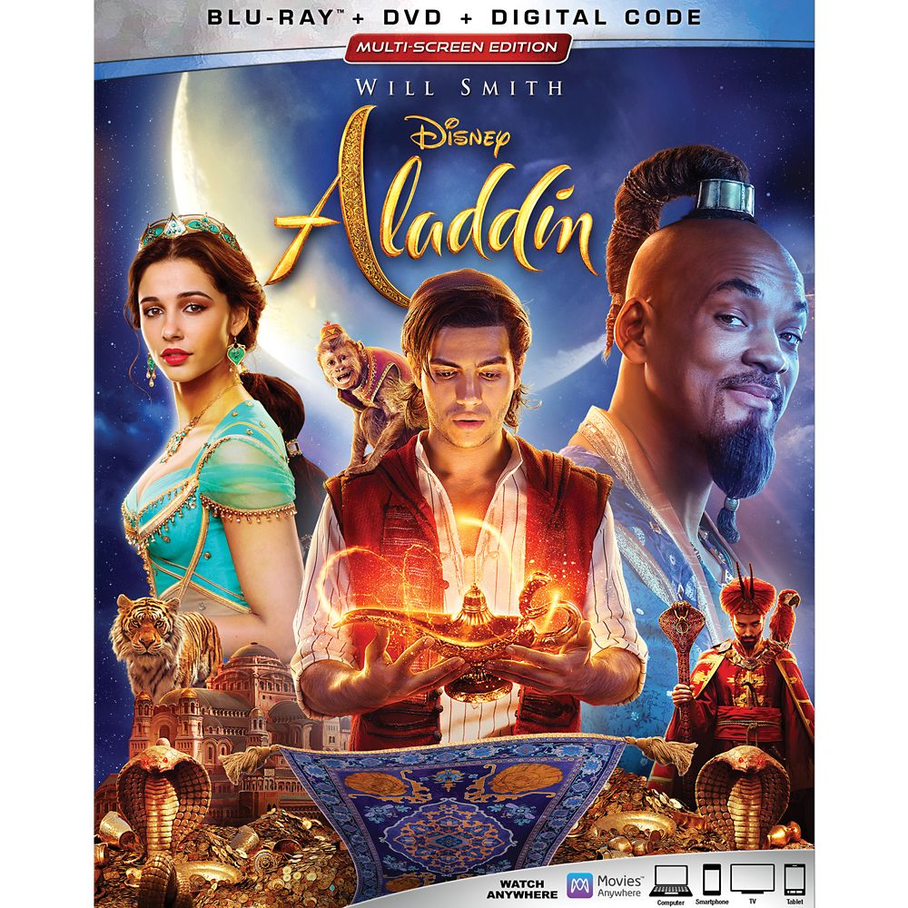 Aladdin Live Action Film Blu-ray Combo Pack Multi-Screen Edition with FREE Lithograph Set Offer – Pre-Order