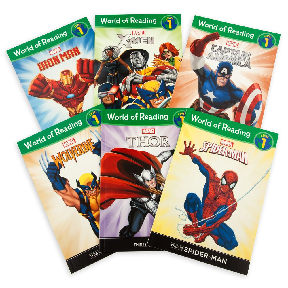 Marvel World of Reading Book Set – Level 1