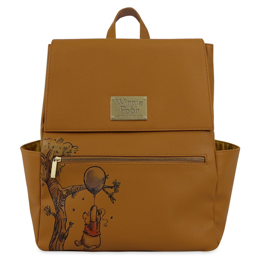 shopdisney.com - Winnie the Pooh Anniversary Faux Leather Backpack Official shopDisney 49.99 USD