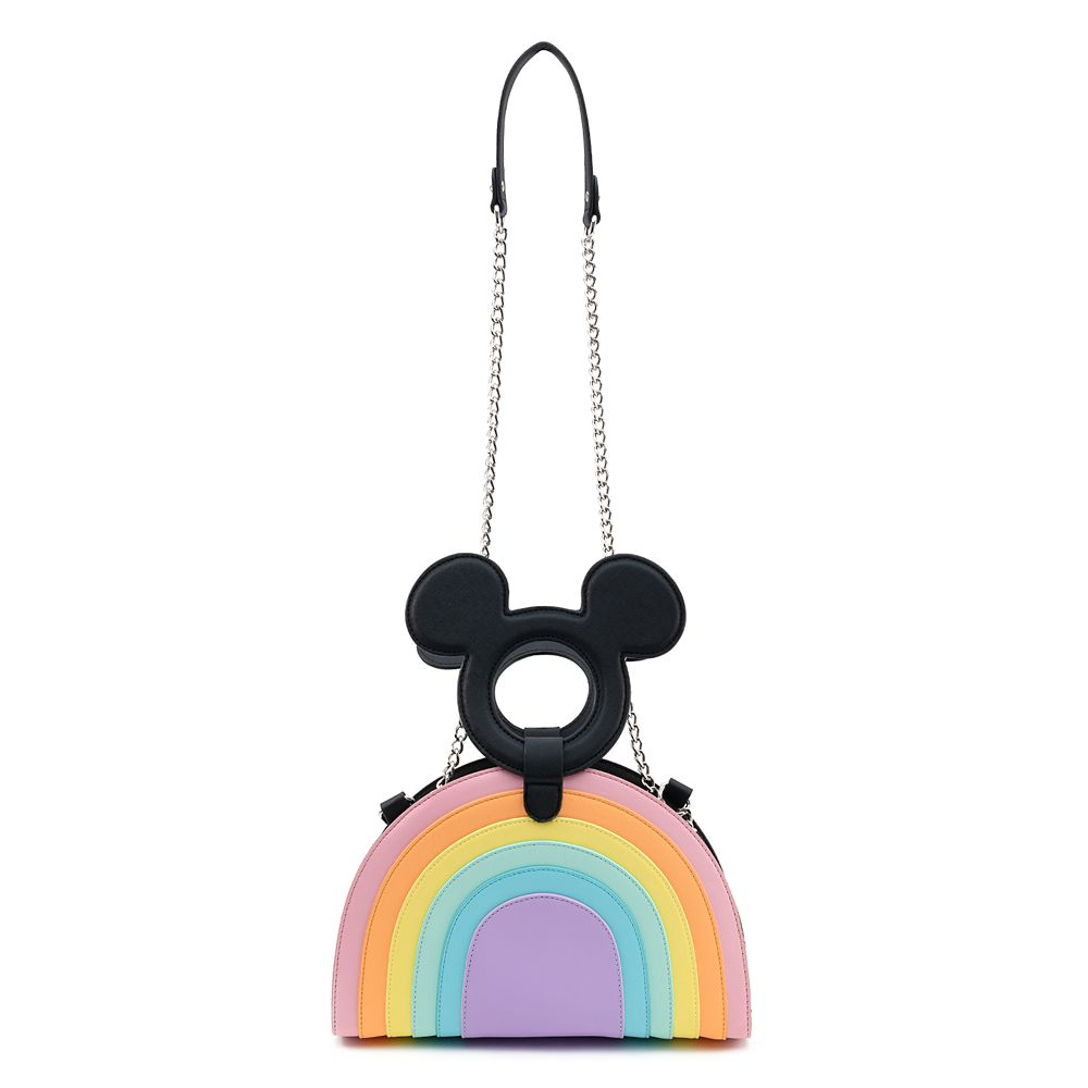 Mickey Mouse Pastel Rainbow Crossbody Bag by Loungefly