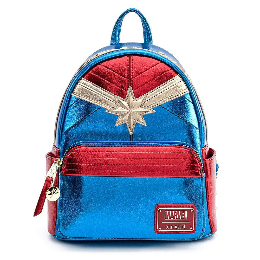 Marvel's Captain Marvel Metallic Mini Backpack by Loungefly