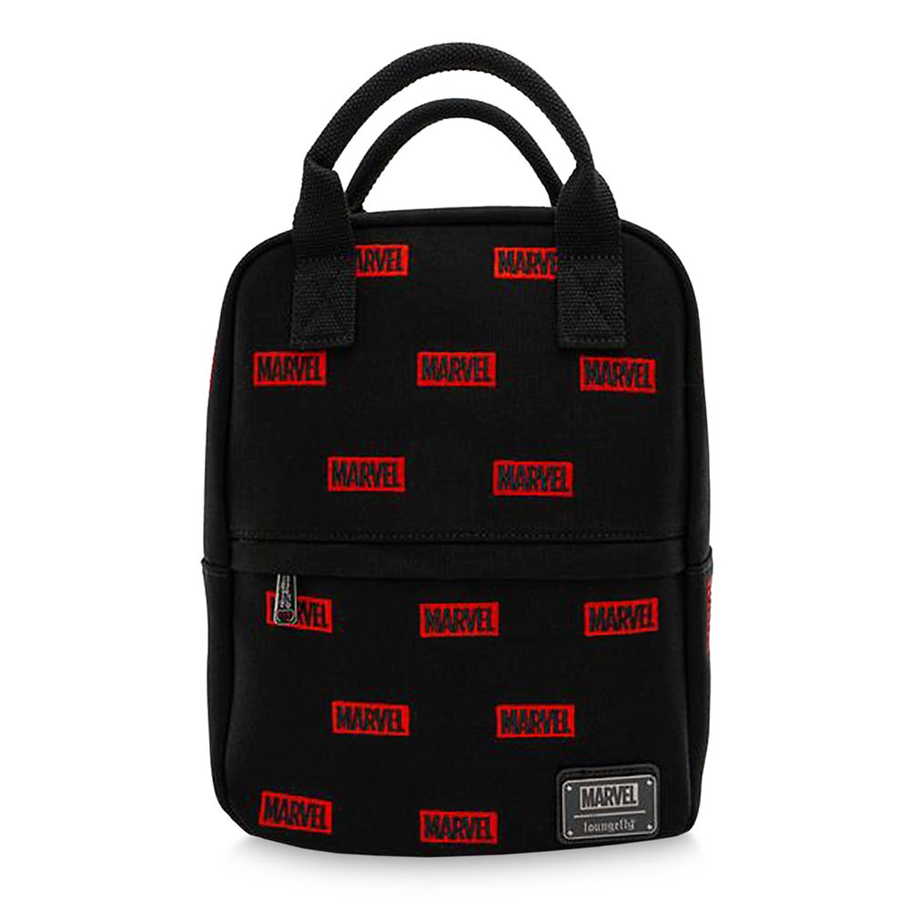 shopdisney.com - Marvel Logo Loungefly Canvas Mini Backpack Official shopDisney 75.00 USD