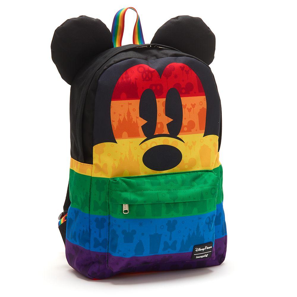 Loungefly Women/'s Mickey Rainbow Backpack New Backpacks