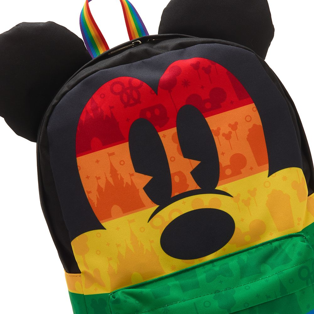 Rainbow Disney Collection Mickey Mouse Canvas Backpack by Loungefly – 2020