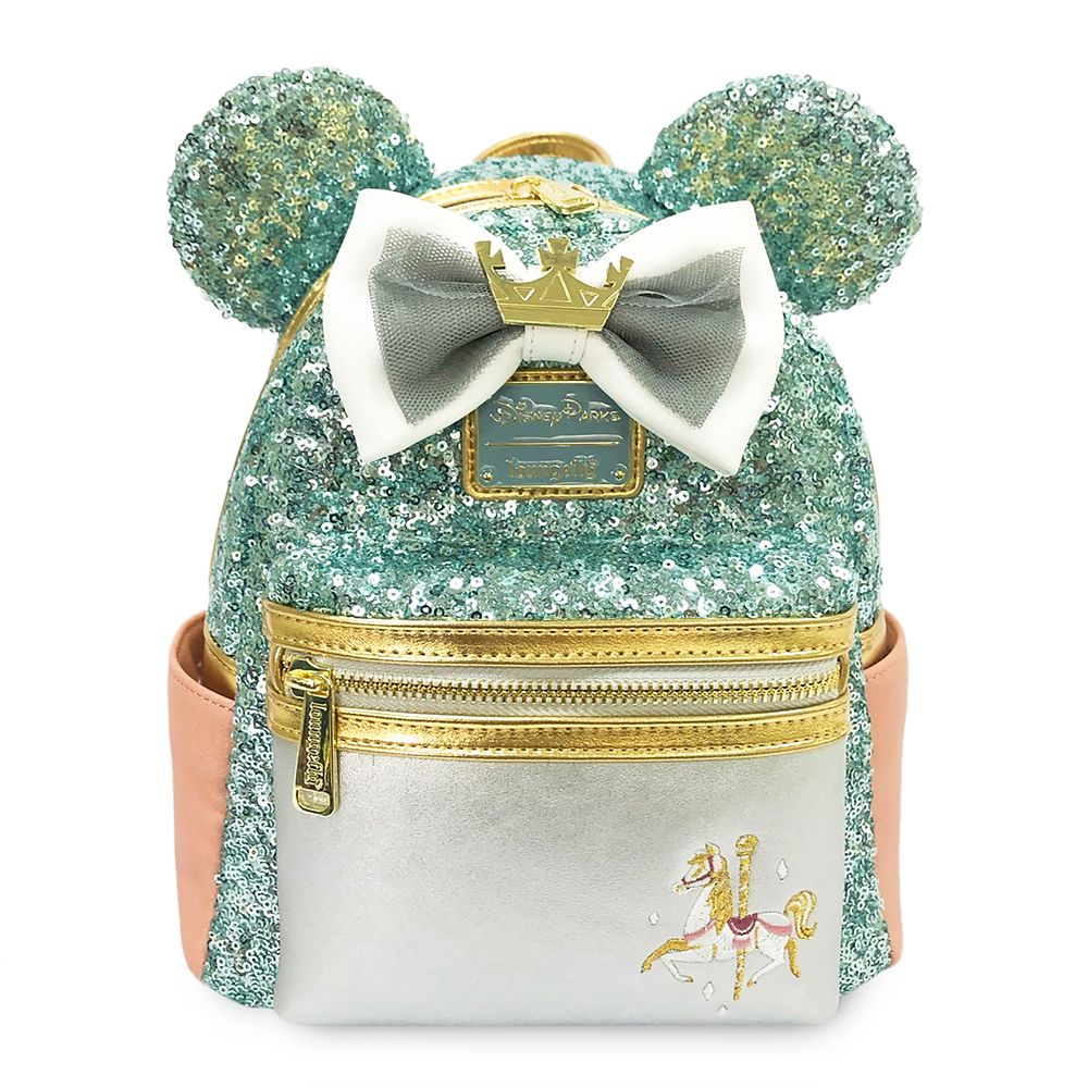 Minnie Mouse: The Main Attraction Mini Backpack by Loungefly – King Arthur Carrousel – Limited Release
