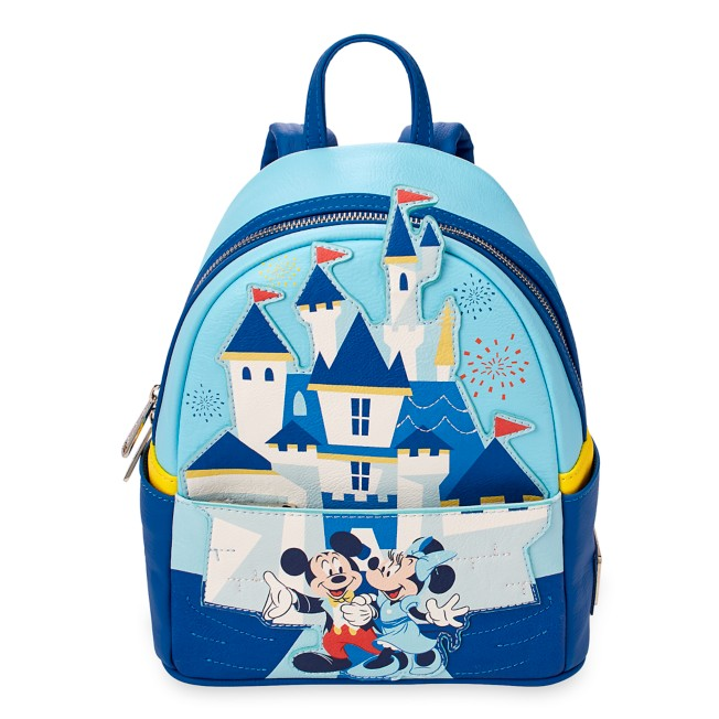 Mickey and Minnie Mouse Mini Backpack by Loungefly – Disneyland 65th Anniversary