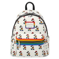Mickey and Minnie Mouse Loungefly Mini Backpack – Rainbow Disney Collection