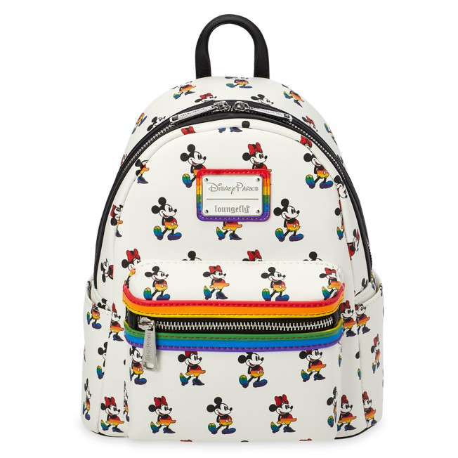 Mickey and Minnie Mouse Mini Loungefly Backpack – Rainbow Disney Collection