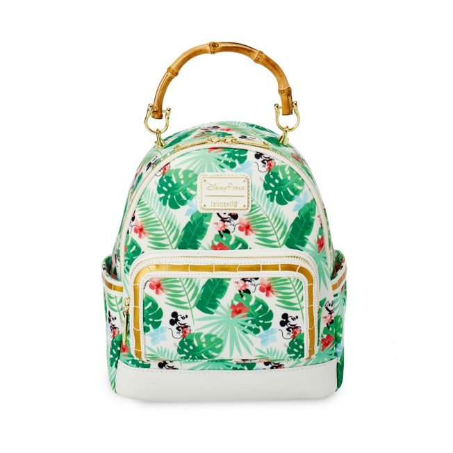 Mickey and Minnie Mouse Tropical Loungefly Mini Backpack