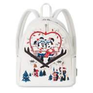 Mickey and Minnie Mouse Holiday Loungefly Mini Backpack