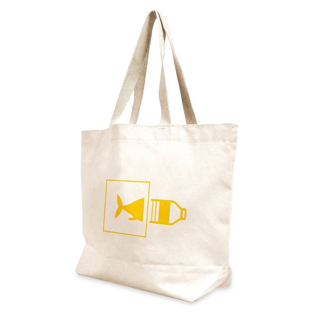 "shopdisney.com - National Geographic Reusable ""Planet or Plastic"" Canvas Tote Official shopDisney 12.99 USD"