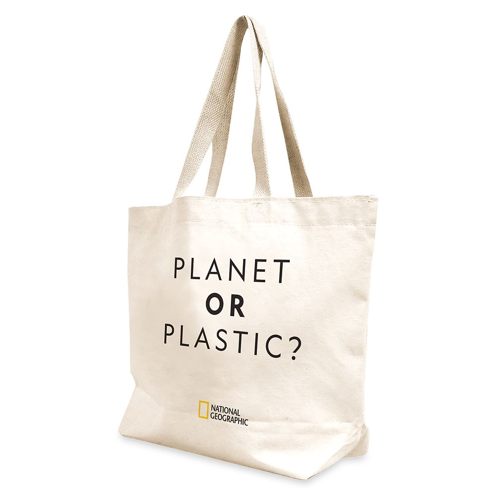 National Geographic Reusable ''Planet or Plastic'' Canvas Tote