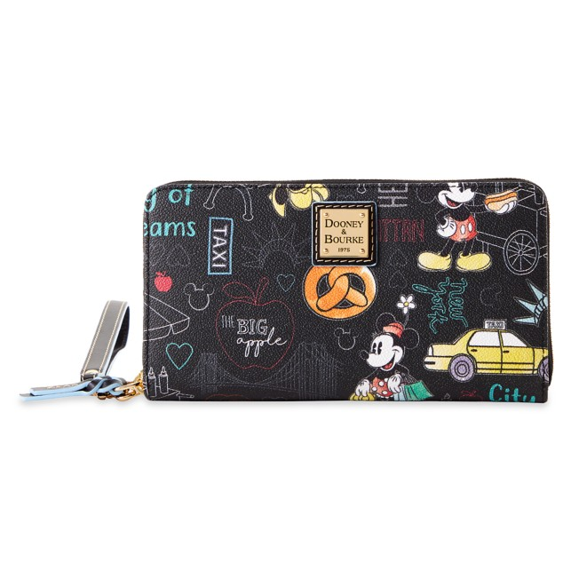 Mickey and Minnie Mouse New York City Dooney & Bourke Wristlet Wallet