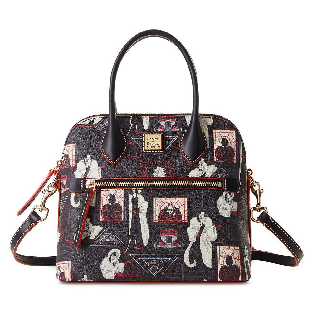 Cruella De Vil Zip Domed Satchel by Dooney&Bourke – 101 Dalmatians