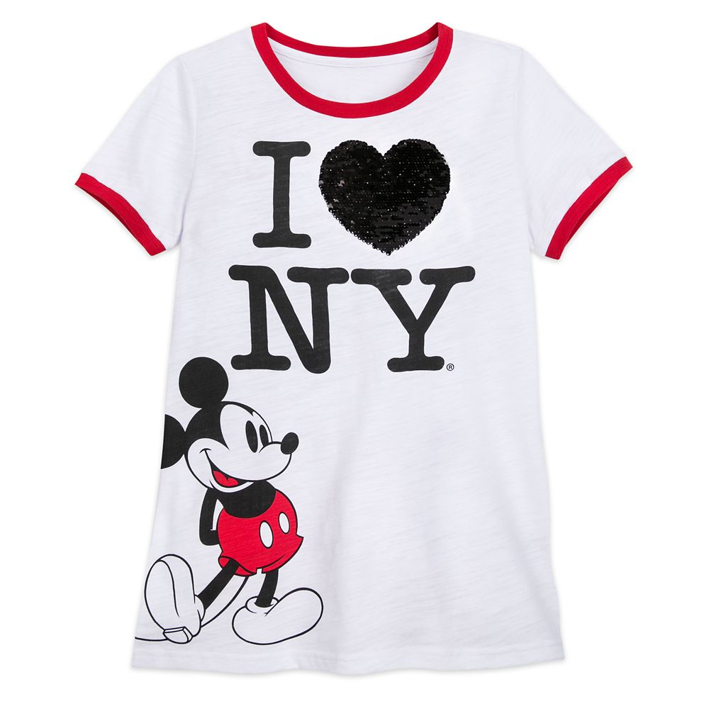 Mickey Mouse I ♥ New York Reversible Sequin T-Shirt for Women – New York City