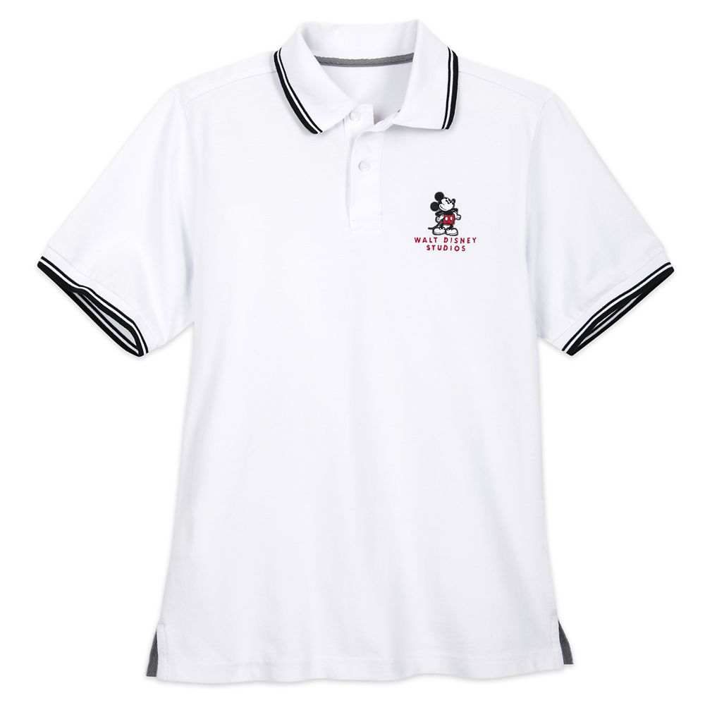 Mickey Mouse Polo Shirt for Men – Walt Disney Studios – White