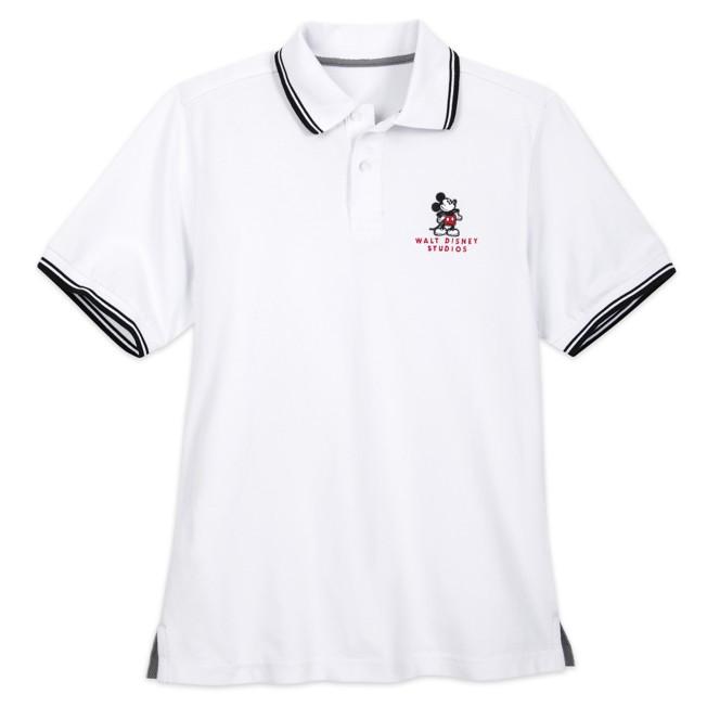 Mickey Mouse Polo Shirt for Men – Walt Disney Studios – White
