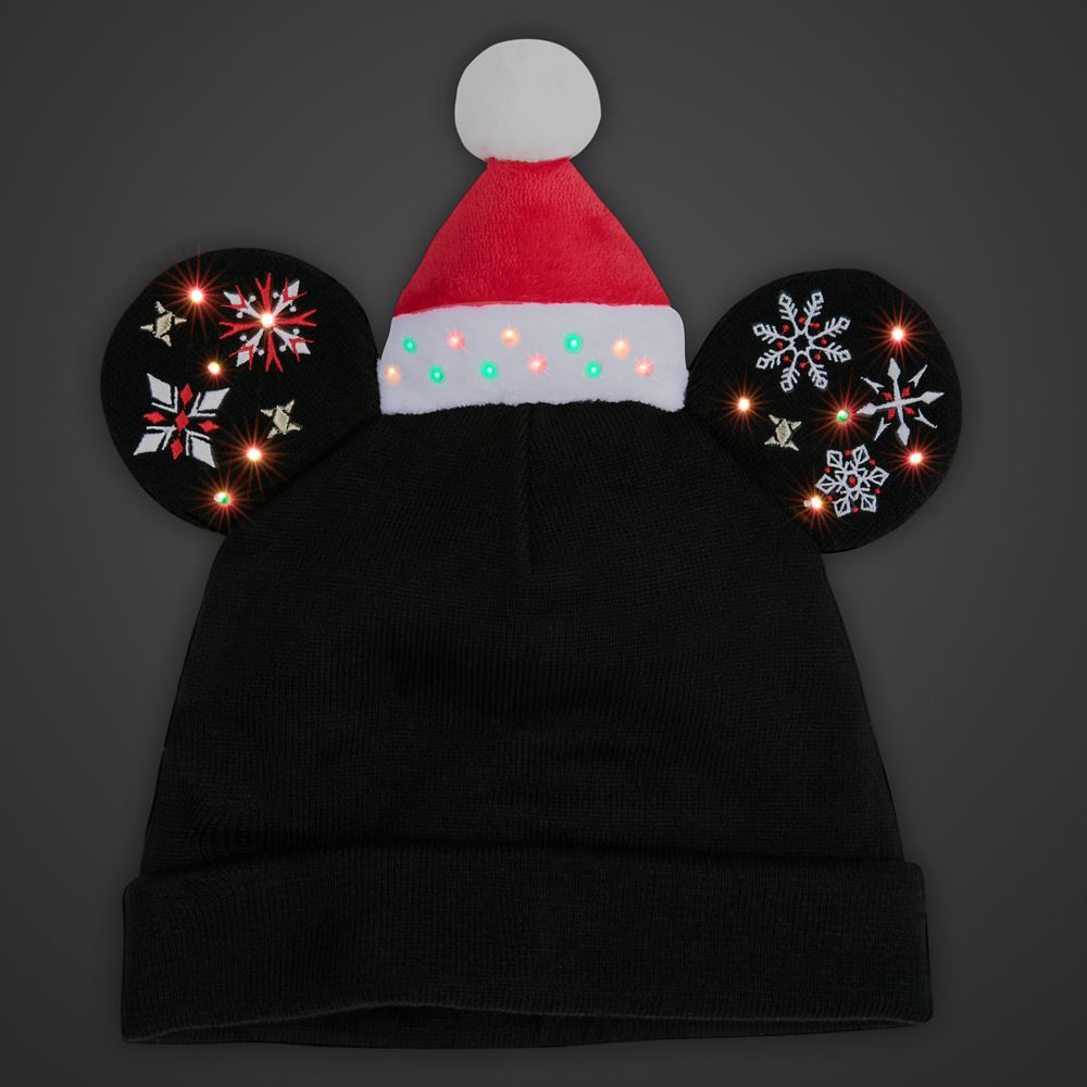 Mickey Mouse Light-Up Holiday Beanie for Adults