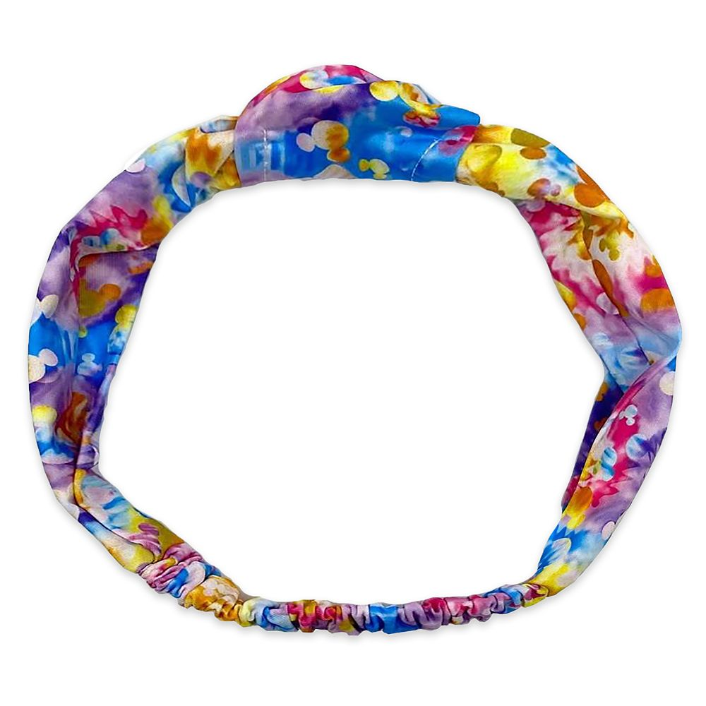 Mickey Mouse Icon Rainbow Tie-Dye Wrap Headband for Adults Official shopDisney