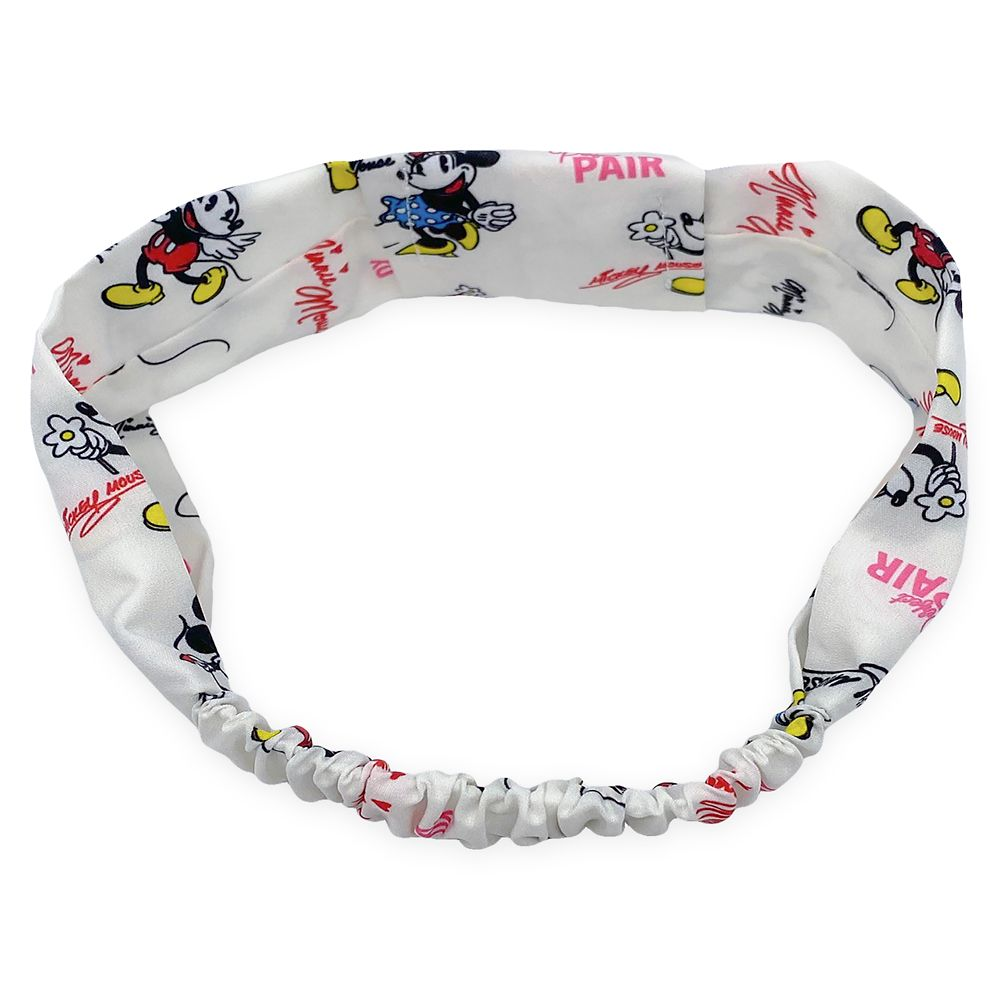 Mickey and Minnie Mouse Elastic Headband for Adults Official shopDisney