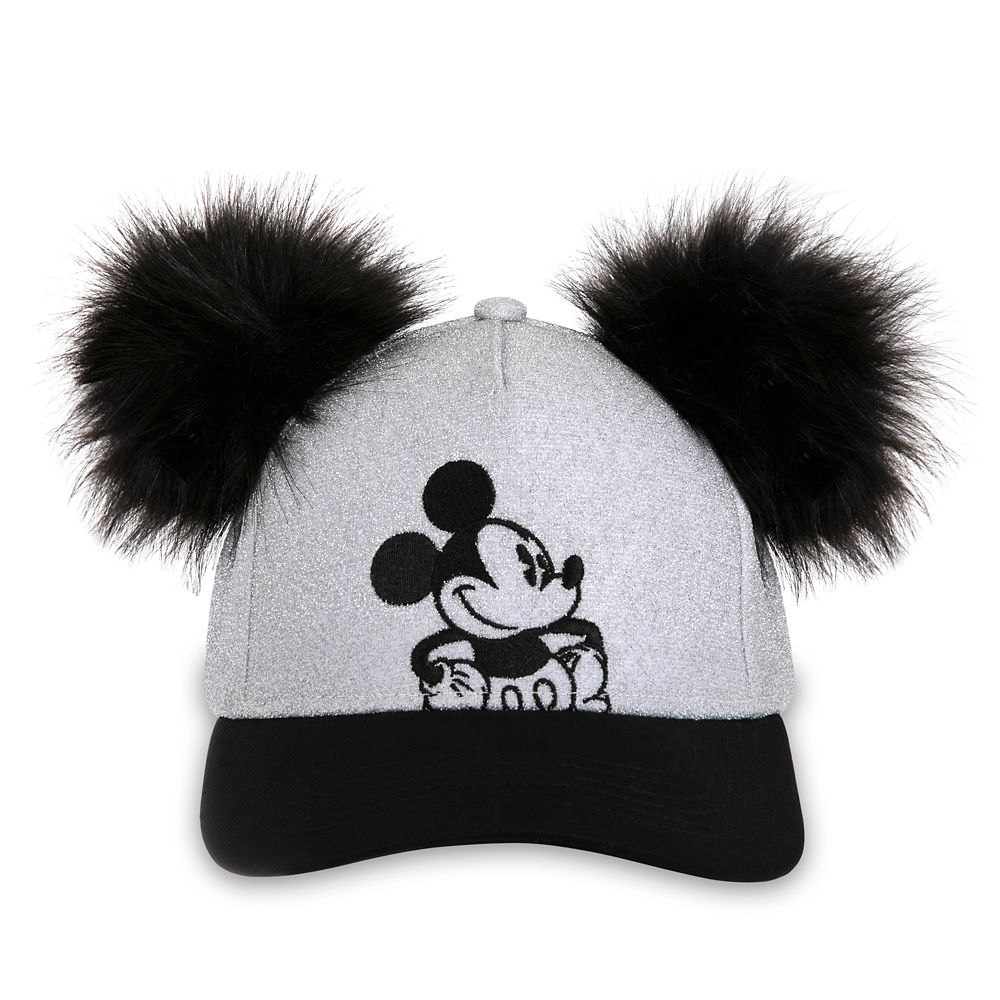 Mickey Mouse Grayscale Baseball Cap for Adults