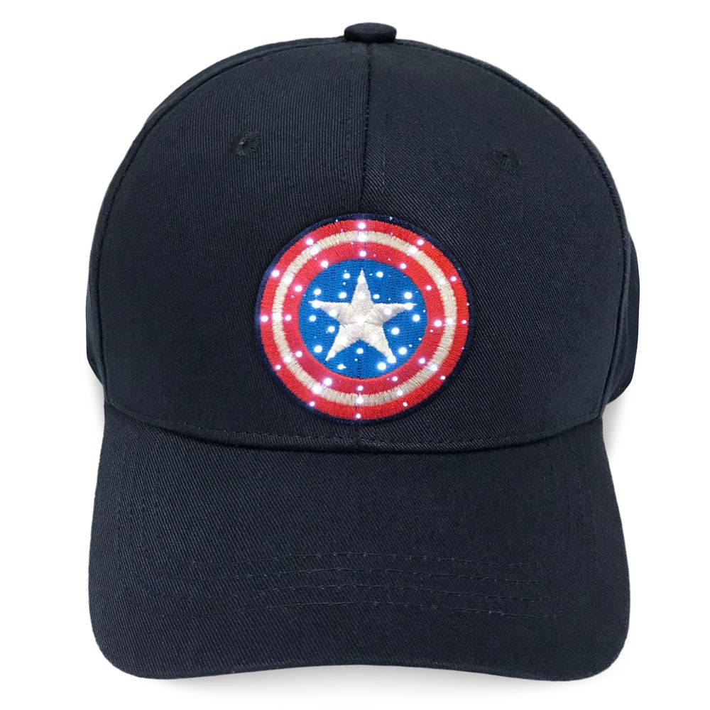 Captain America Light-Up Baseball Cap for Adults