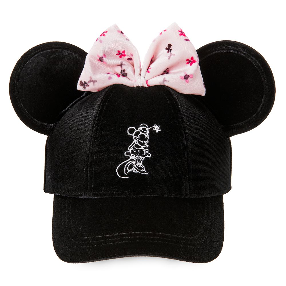 Minnie Mouse Velvet Ear Baseball Cap for Women