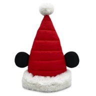 Mickey Mouse Quilted Santa Hat for Adults