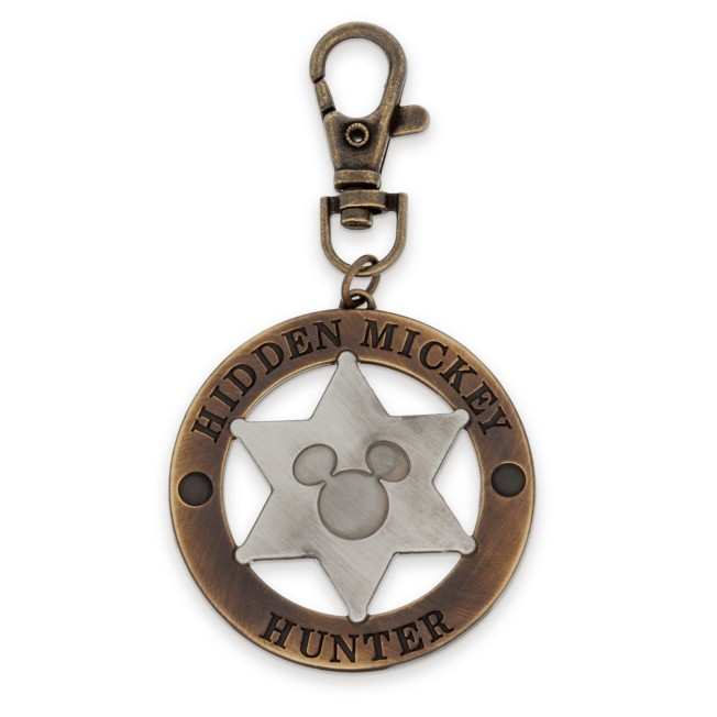 Mickey Mouse Icon Sheriff's Badge Bag Charm
