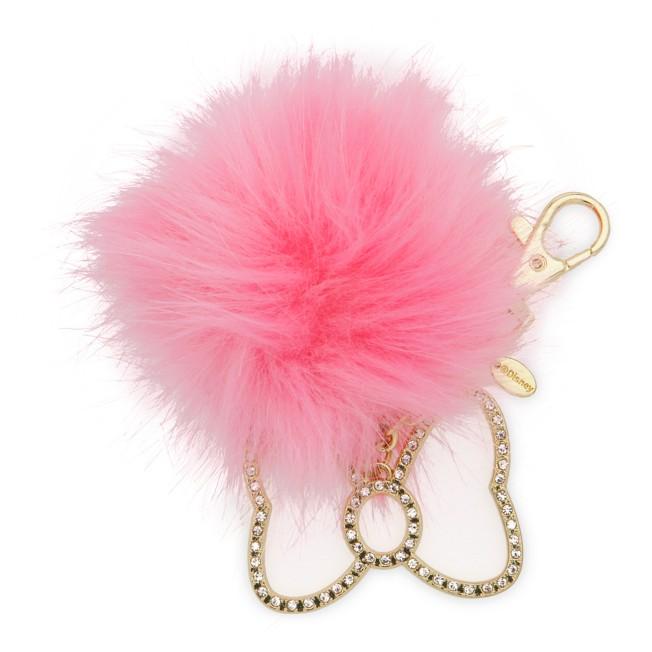 Minnie Mouse Fuzzy Pom Pom Bag Charm