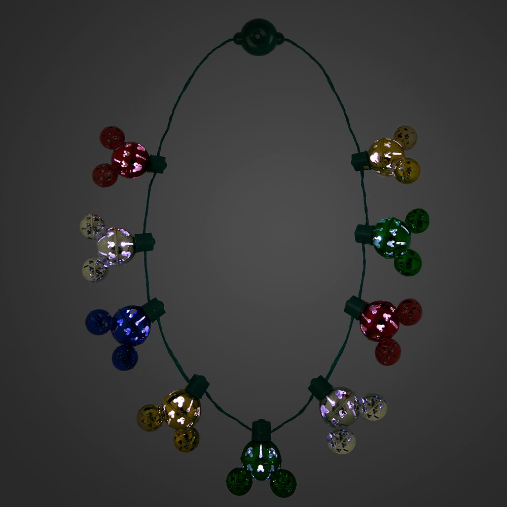 Mickey Mouse Light-Up Holiday Necklace