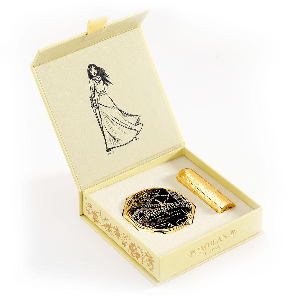 Mulan Disney Princess Signature Compact and Lipstick Set by Bésame – Limited Edition