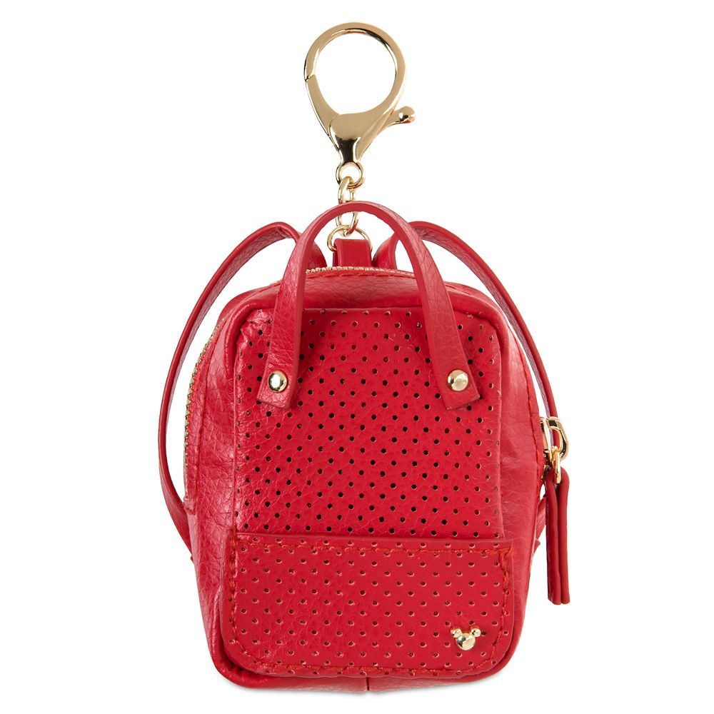 Mickey Mouse Miniature Backpack Bag Charm – Red