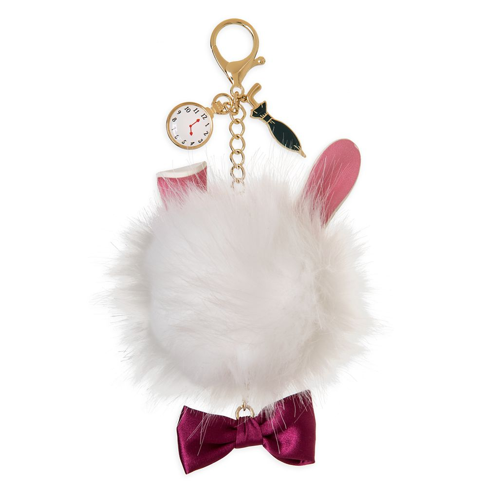White Rabbit Fuzzy Bag Charm – Alice in Wonderland – Oh My Disney