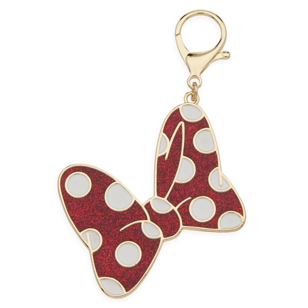 Minnie Mouse Polka Dot Bow Bag Charm