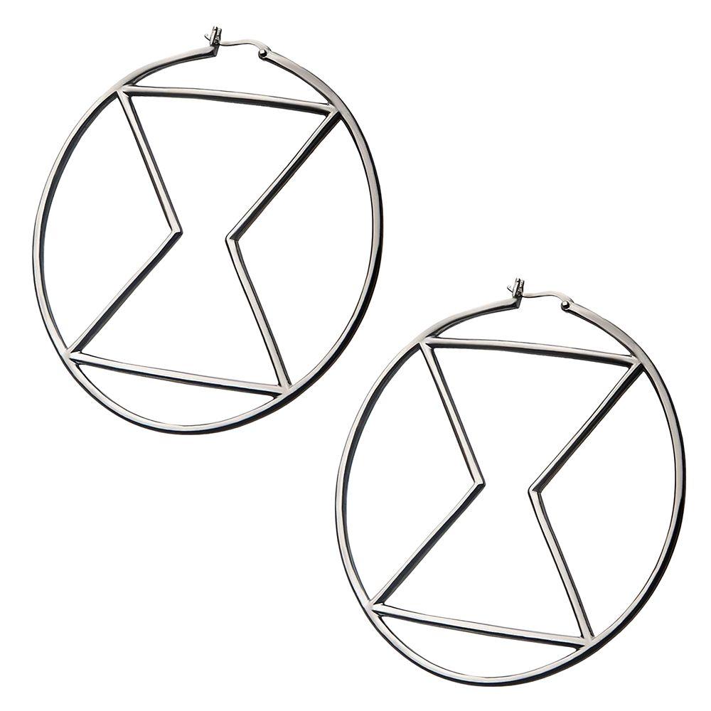 Black Widow Hourglass Hoop Earrings by RockLove