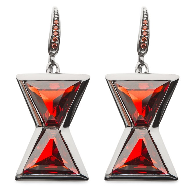 Black Widow Hourglass Dangle Earrings by RockLove