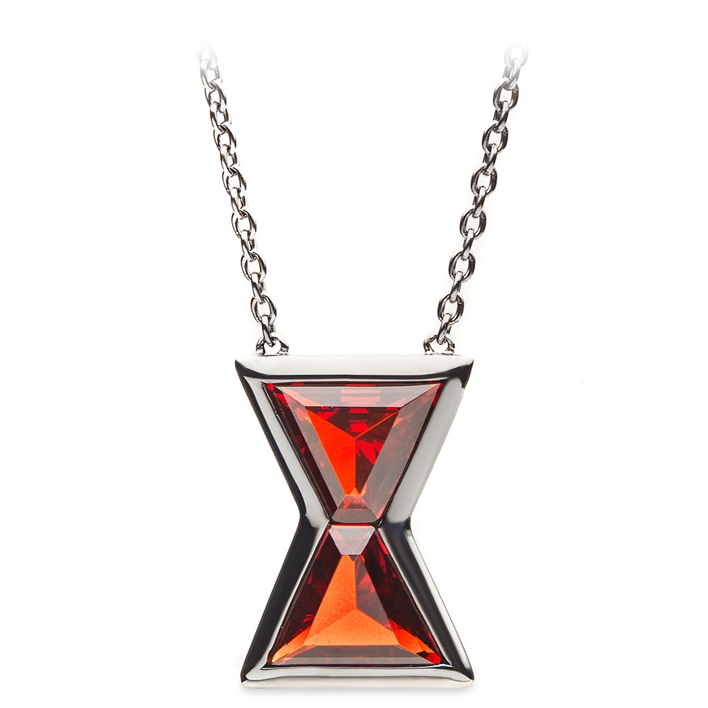 Black Widow Hourglass Pendant Necklace by RockLove