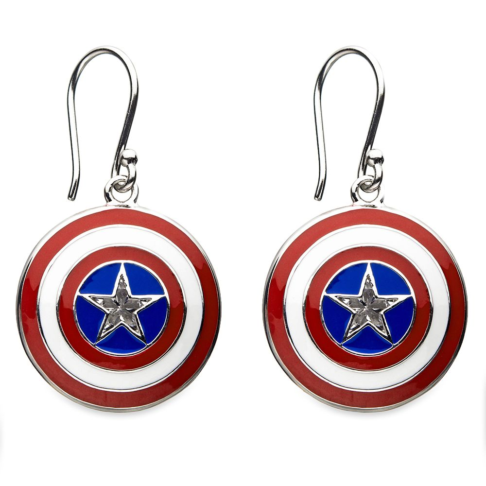 Captain America Shield Earrings by RockLove