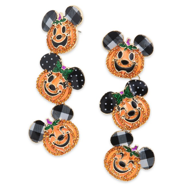 Mickey and Minnie Mouse Jack-o'-Lantern Dangle Earrings by BaubleBar