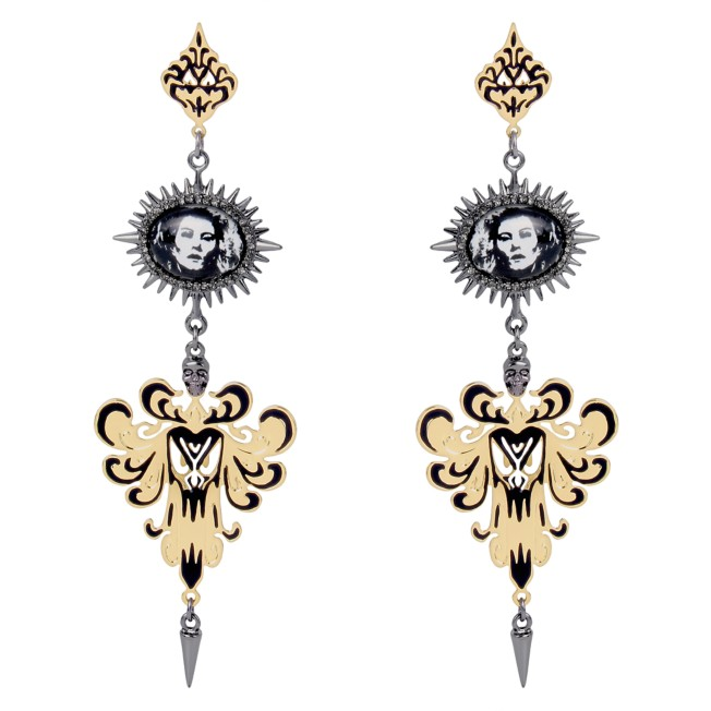 The Haunted Mansion Cameo Chandelier Earrings by Betsey Johnson