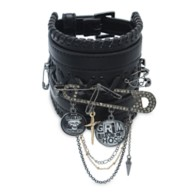 The Haunted Mansion Safety Pin Faux Leather Bracelet by Betsey Johnson